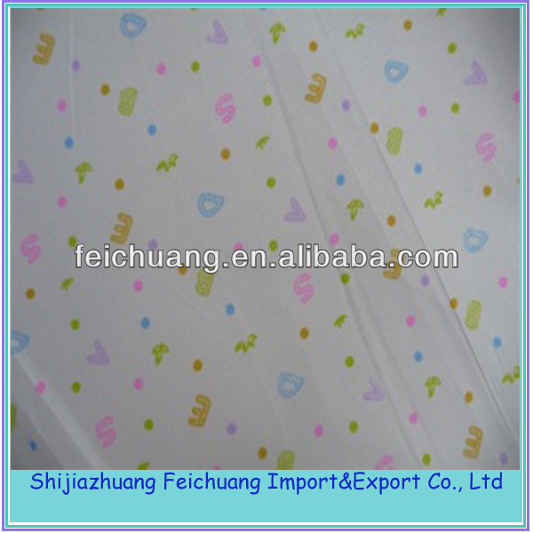 polyester cotton bedsheet fabric with peach skin