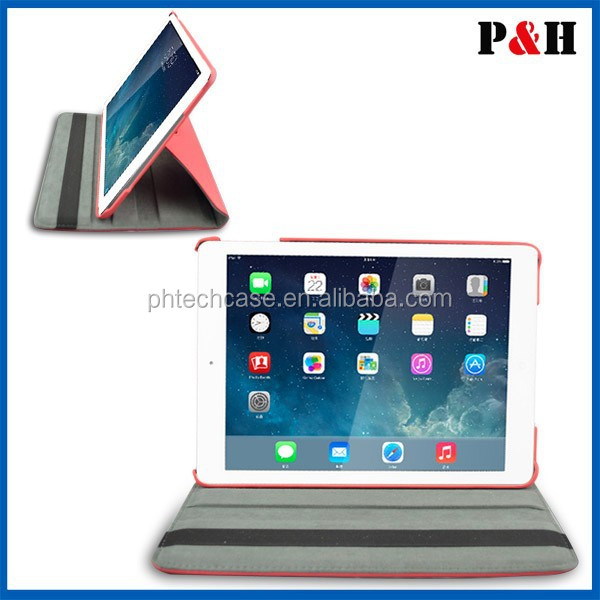 360 degree Design multi Function pu leather stand cover Auto sleep wake function Stand Protective Case for ipad mini 1 2 3,air 1