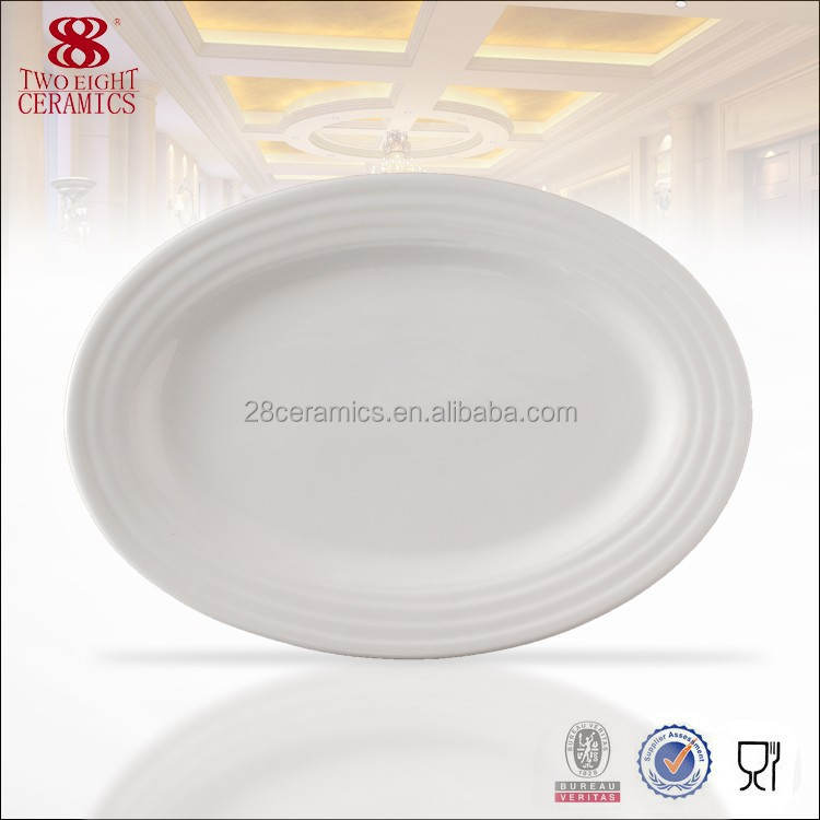 Wholesale Used Restaurant Dinnerware White China Plate Hotel Used Dinner Plat