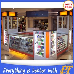 Shopping mall cell phone accessories kiosks for mobilephone store design