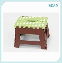 Hot Sell Low Price plastic foldable step stool with non-slip mat ningbo sean