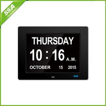 10 inch LED digital clock Day Calendar For Old man Easy to Read
