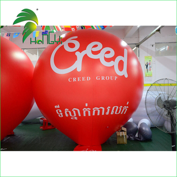 Factory Customized Realistic Red Inflatable PVC Advertising Hanging Display Red Ball