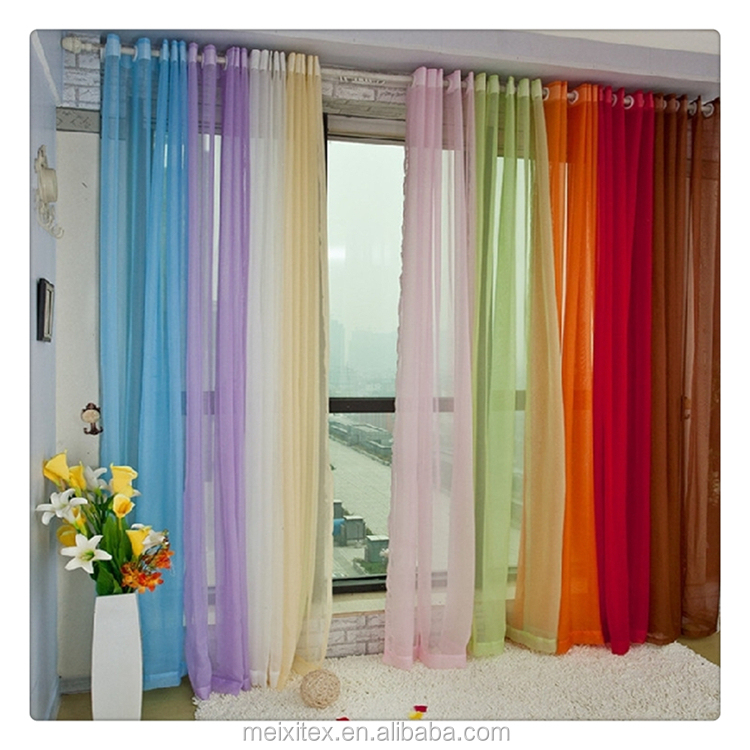 100% Polyester High Quality Organza Curtain, organza curtain fabrics, Sheer Curtains