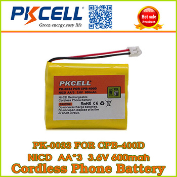 rechargeable cordless phone battery ni-cd 5/4 AA*3 3.6V battery pack from alibaba website