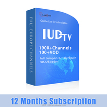 Best Price Of 1 Year IUDTV Iptv Arabic European Account Streaming Code Wholesale Online Support Smart Android TV Box Mag 250