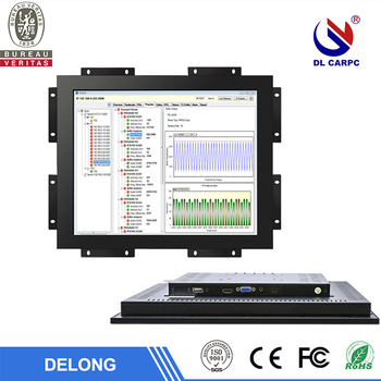 12/15/17/19 inch industrial stock resistive touch panel open frame lcd monitor