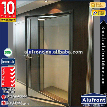 double glazed soundproof aluminum interior office door with glass window that open
