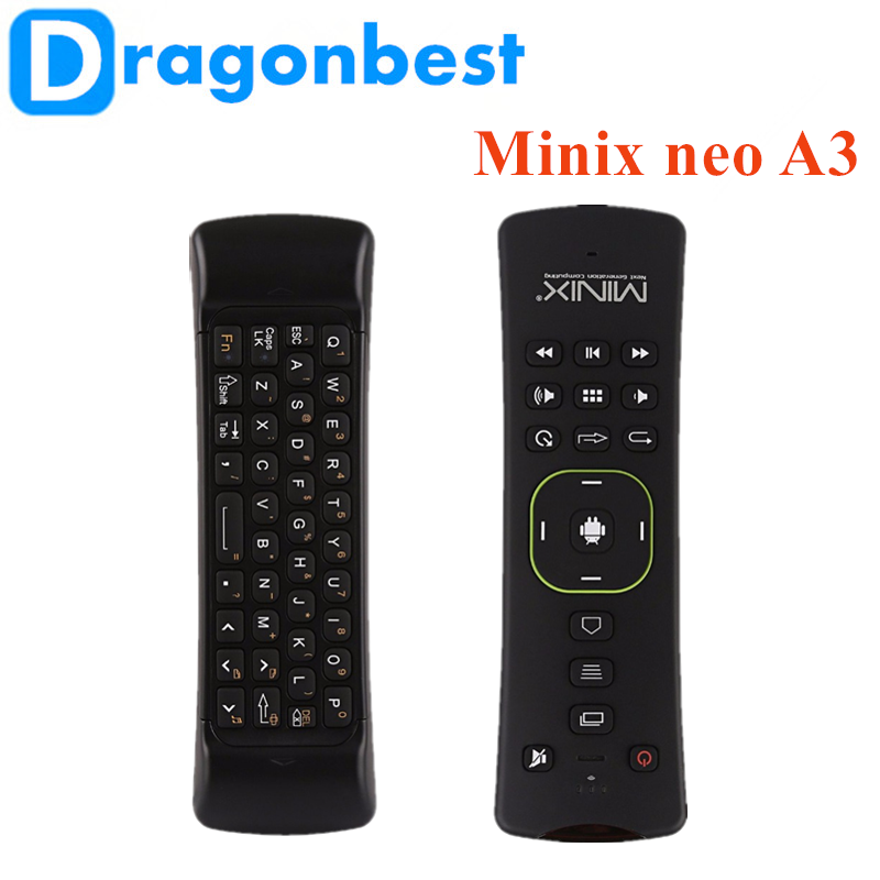 Minix neo A3 Wireless air mouse Android 7.1 marshmallow tv box black 2.4g keyboard With CE certificates Keyboard with Voice