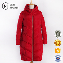 Custom Women Winter Clothes Goose Duck Down Feather Jacket