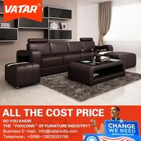 China supplier VATAR leather sofa furniture cleopatra style