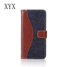 case cover for samsung galaxy j7 2016 with contrasting denim pattern flip pu leather design, cases smartphones cover for samsung