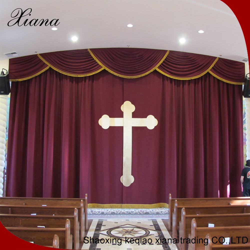 Elegant curtain design fancy living room curtains church curtains decoration