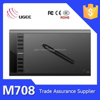 Ugee M708 Graphic Drawing Tablet 2048 Pen Pressure Sensitive