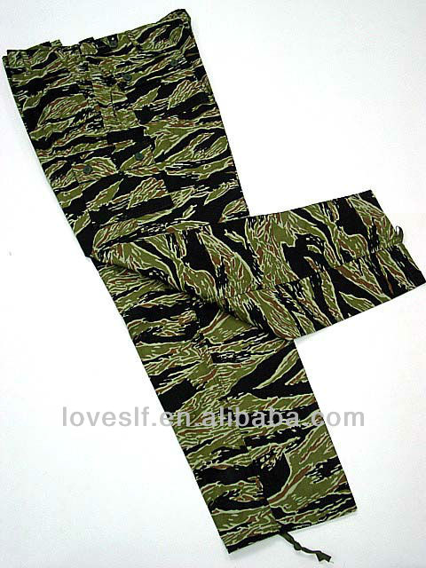 Loveslf asian tiger stripe military uniform wolesale army camouflage uniform