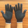 black color PVC dotted working gloves