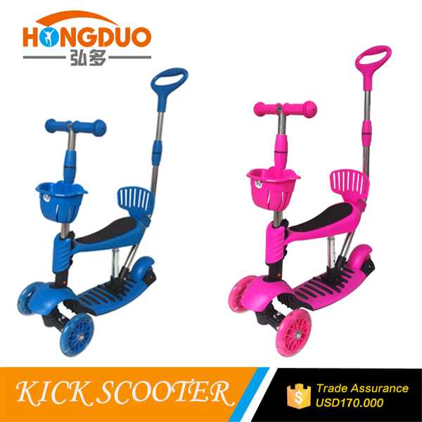 5 in 1 mini kick scooter with seat