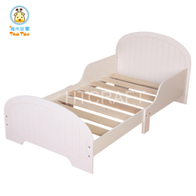 Snow White Wooden Toddler Bed For 140*70cm Mattress, E1 Degree MDF Children Beds With Sturdy Construction