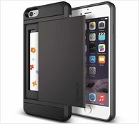 Slide Card Shock Proof Slim Hybrid Wallet Case Cover For Apple iPhone 4s