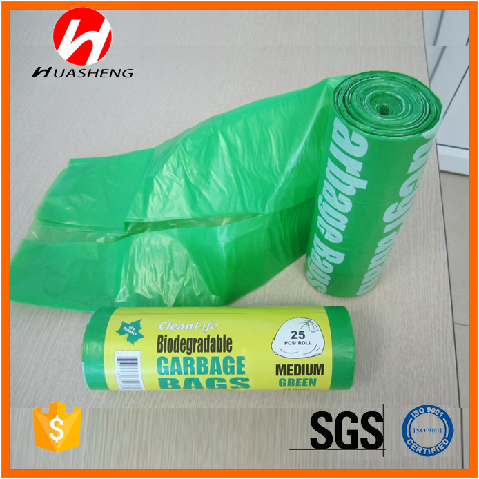 Recyclable Feature plastic garbage bags/Flat C Fold trash bag