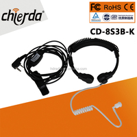 CD-8S3B-K Hot selling throat microphone for Security Two Way Radio Communication