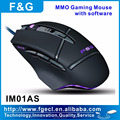 Laser gaming mouse with macro software