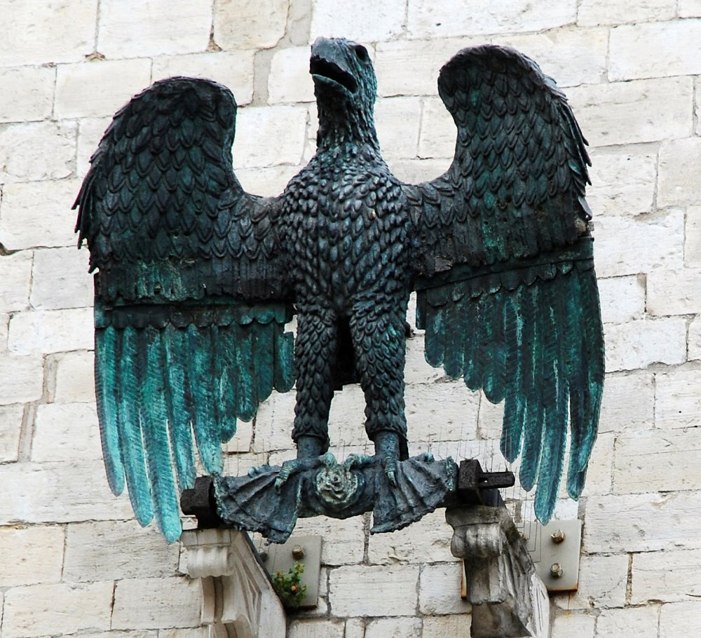 Outdoor bronze animal antique bronze garden eagle sculptures