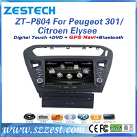ZESTECH Car Radio Touch Screen auto dvd player for car Peugeot 301 Citroen Elysee car dvd gps navigation system