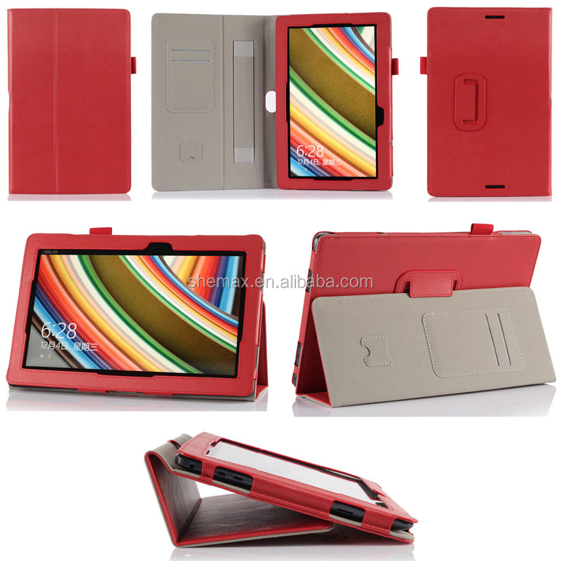 PU Leather Cover Case For ASUS Transformer Book T100 with Armband & Holder & Credit Card Slots