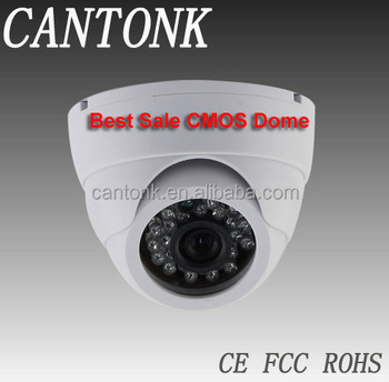 Best Economic CCTV CMOS 800TVL Plastic 20m IR CMOS indoor dome