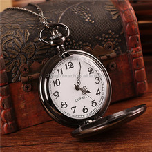 Custom Retro watch Antique full Stainless Steel Watch classical Pocket Watches men women with Chain for gift