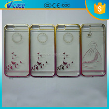 Transparent plating 15g light weight plastic cell phone case for iPhone 5 5s