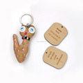 3D Laser Engraving No Minimum Wood Keychains