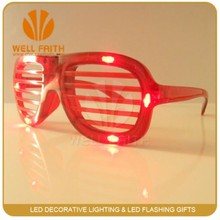Multi color cheap plastic flashing led party sunglasses shutter shade