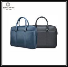 Navy saffiano leather men laptop bag