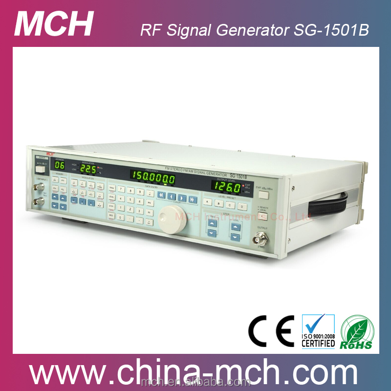 Stereo FM 150MHz Digital RF Signal Generator SG-1501B with programmable up to 110MHz FM Stereo