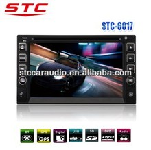 Universal 2 Din Car DVD Player with GPS Navigation, Bluetooth, Radio Stereo, Height Power Output. *2014 NEW DESIGN! STC-6017*