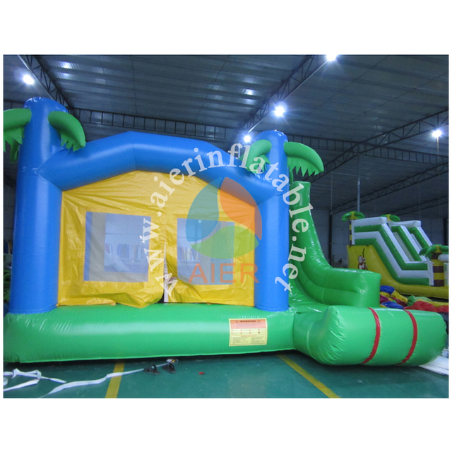 Coconut tree air bouncers for sale, moonbounce rental, bounce house commercial for sale