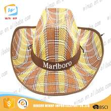 Winup custom design your own cheap plain wholesale bulk straw men's cowboy hats