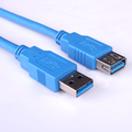 High quality cost-effective USB 3.0 A Male to A Female Cable Blue or Black Jacket