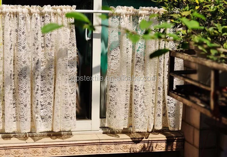 2016 cheap small size cheap price lace design Textile window curtains