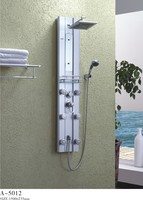 Satin 6-Jet Shower Panel System in Aluminum body