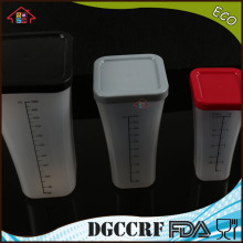 3 PCS Plastic Measuring Cup Food Container Kitchen Liquid Measuring Food Container with Colorful Covers Measuring Cup