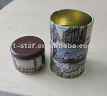 tiered cylinder biscuit tin