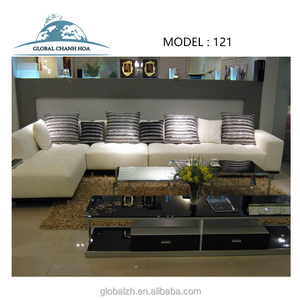 Modern design fabric l shaped sofa set for home furiniture