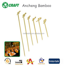 Knotted Bamboo Skewer Buffets Catering Cocktail Appetizer Picks