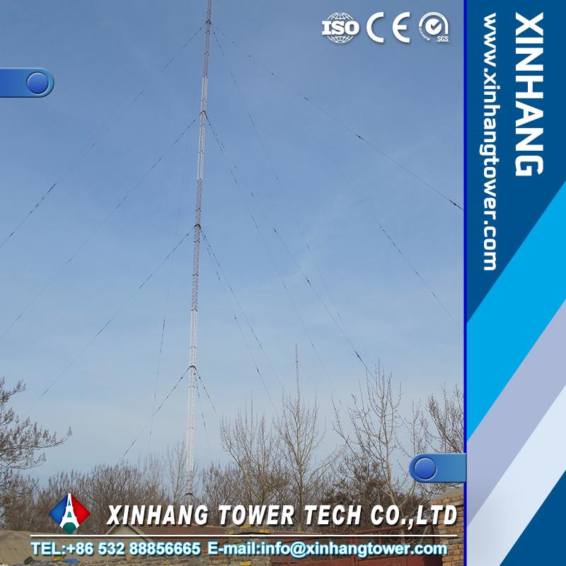 20m 30m 40m 50m guyed mast tower