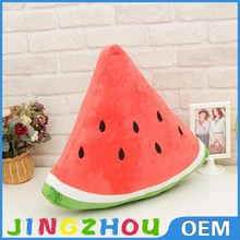 Suppliers of plush toys in china plush toy food, cotton food plush watermelon
