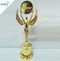 high-end gold metal statue with wing award