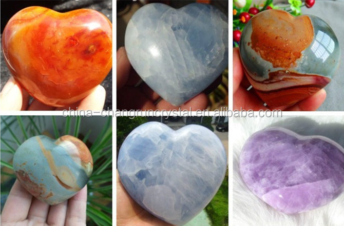 Wholesale Polished Lapis Lazuli crystal carved Puffy heart/gemstone heart